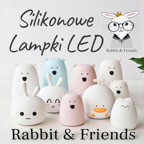 Lampki silikonowe LED z pilotem Rabbit & Friends