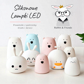 Lampki silikonowe RABBIT & FRIENDS