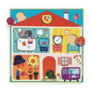 Puzzle drewniane ZAMIANA MIEJSC DJ01519