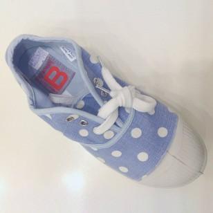 Bensimon niebieski w groszki
