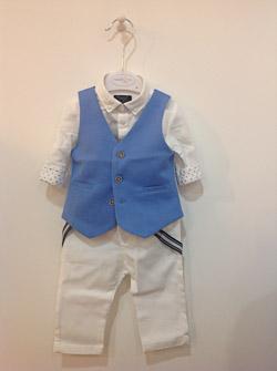 Komplet dla chłopca, koszula ze spodniami i kamizelka