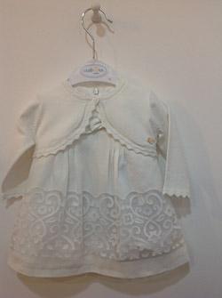 sukienka dla dziewczynki z koronką i bolerkiem