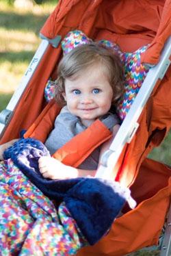 Wyposażenie wózków dziecięcych. Miękkie wyściółki