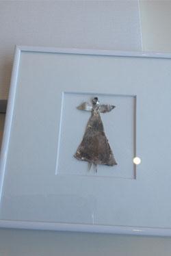 obrazek, anioł ze srebra