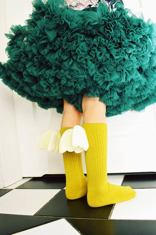 Zielona spódniczka tiulowa Tu Tu